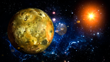 io: Io Planet Solar System space isolated illustration