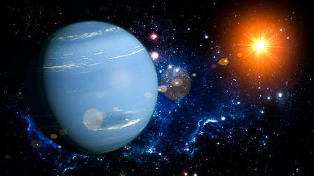 neptuno: Neptuno Sistema Solar Planet espacio aislado ilustración