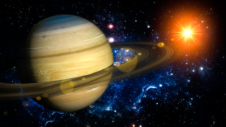 saturn planet: Saturn Planet Solar System space isolated illustration