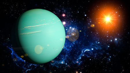 uranus: Uranus Planet Solar System space isolated illustration
