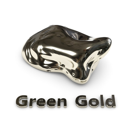 precious: Green Gold precious stone with gold subscription