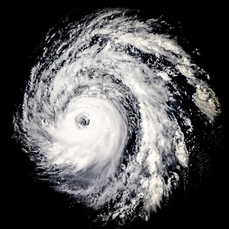 tornado: Global storm isolated space vortex. Elements of this image furnished by NASA