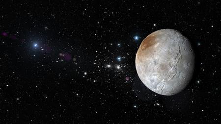 Planeta Plutón en el espacio exterior. Foto de archivo