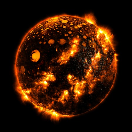 Hot planet solar system background illustration space Stock Photo