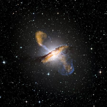 Die Galaxie System mit einem hellen optischen Mittelpunkt.