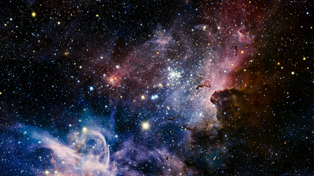 pink and black background: Stars nebula, beautiful and colorfull explosive in space