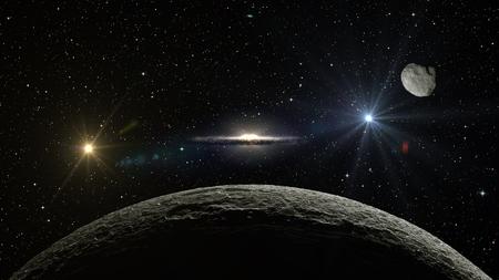 ファンタジー エイリアン エキソ惑星銀河空間を分離しました。