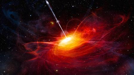 明るい光センター NASA から提供されたこのイメージの要素と galaxy システム