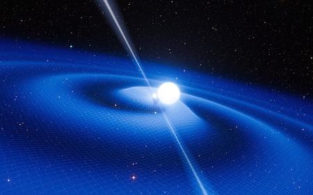 崩壊星分離、NASA によって提供された重力波このイメージの要素