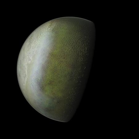 horizont: Triton Planet Solar System space isolated illustration
