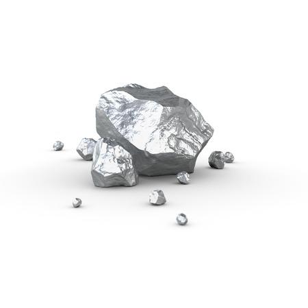 aluminium: Metal piece, mineral raw materials isolated illustration Stock Photo