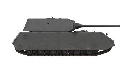 militarily: Mouse German army heavy tank isolated gun