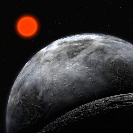 habitable: Fantasy Alien Exo Planet isolated galaxy space