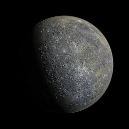 mercury: Mercury on galaxy solar system planets 3d render