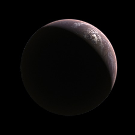 fantasy alien: Fantasy Alien Exo Planet isolated galaxy space 3d rendering