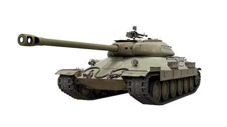 militarily: View of Tank is6 3d render isolated Stock Photo