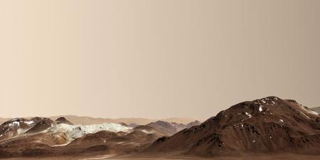 火星の表面。 写真素材