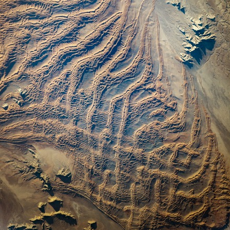 Earth top view from space. Elements of this image furnished by NASA . 版權商用圖片