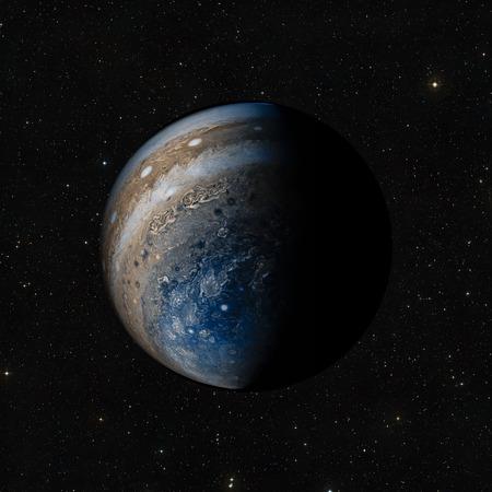 宇宙空間で惑星の眺め。NASA から提供されたこのイメージの要素