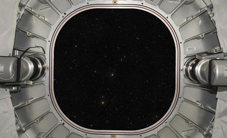 宇宙船からゲートウェイまたはウィンドウのビュー。