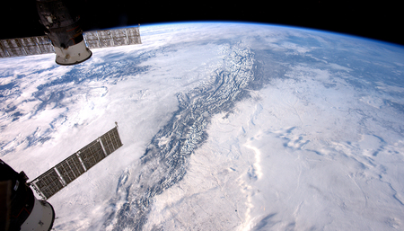 Planet Earth from space. Elements of this image furnished by NASA Stock Photo