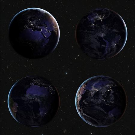 スペースからの地球。NASA から提供されたこのイメージの要素
