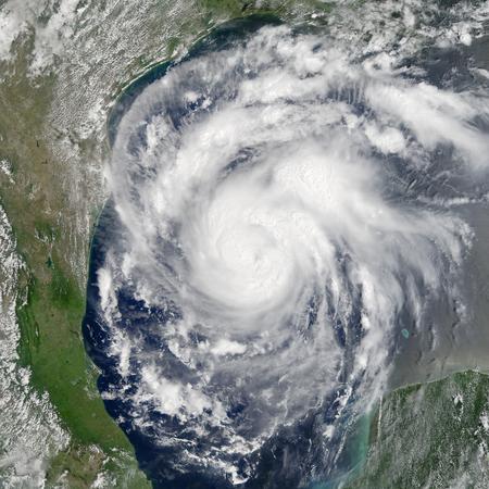 Aard uitzicht vanuit de ruimte met storm.