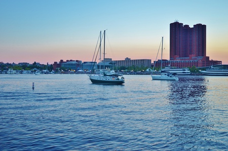 Baltimore city sunset Stockfoto