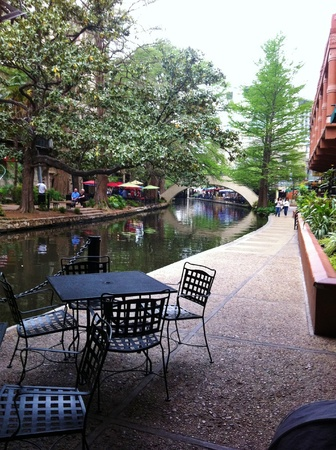River walk san antonio Stockfoto