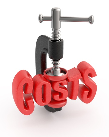 Word cost in clamp, costs reduction concept.