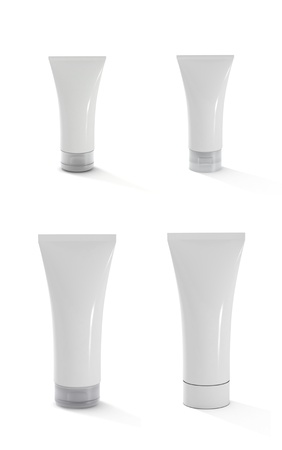 toothpaste tube: Blank white tubes can be used to sketch.