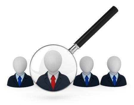 Employee search. Concept illustration 3d. illustration