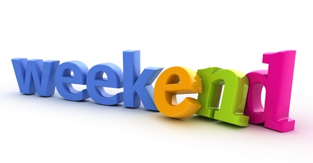 weekends: Weekend word from 3d letters.
