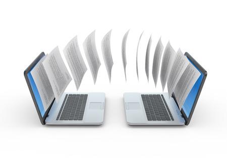 Data exchange concept illustration  Stock Photo