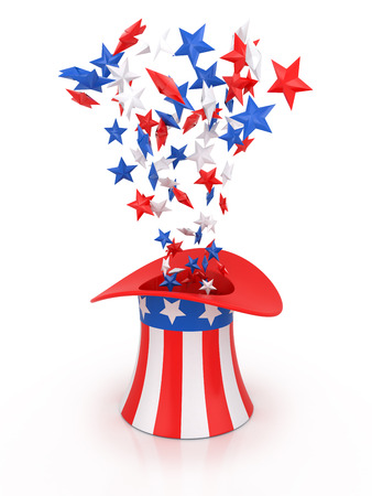 4th of July celebration hat isolated on white