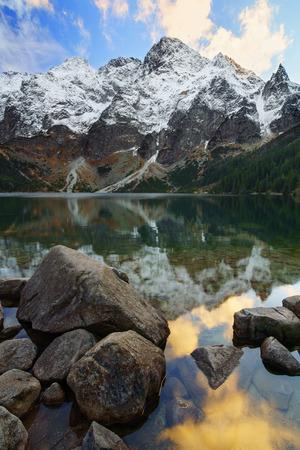 oko: Morskie oko lake near Zakopane in the tatra mountains. Poland.