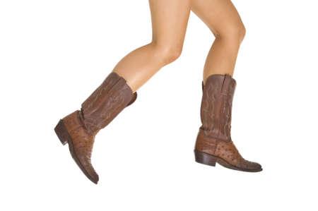 botas vaqueras: Cowgirl Botas Foto de archivo