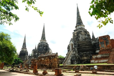 Ayutthaya in Thailand Stock Photo