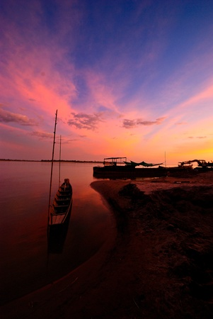 mekong river in laos Stock Photo