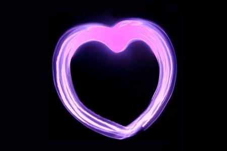 pink heart Stock Photo