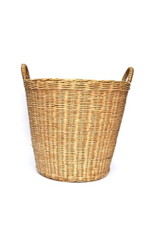 basket on the white background Stock Photo