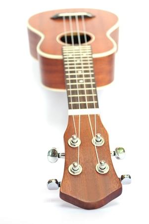 ukulele on the white background photo
