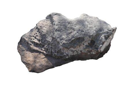 rock isolated on White background.