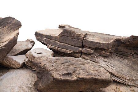 rock isolated on White background. Stock fotó