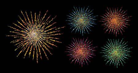 Fireworks.Festival illustration colorée de firework.vector. Vecteurs