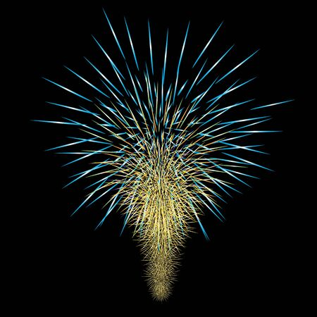 Fireworks.Festival illustration colorée de firework.vector.