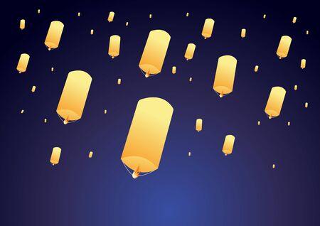 Sky lanterns festival.
