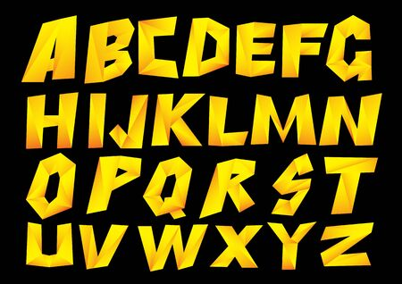 Set Vector font style. Vector illustration