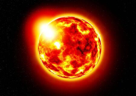Le soleil.Brûlure du soleil