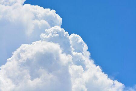 Cloud in the blue sky.